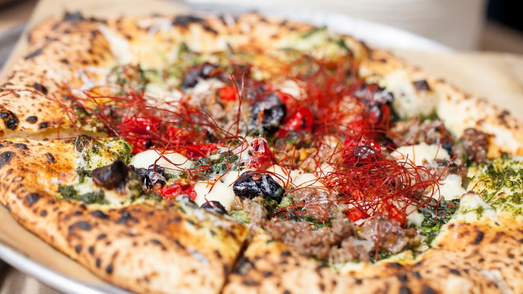 Pizza from Urban Pie at L.A. Loves Alex's Lemonade 2015