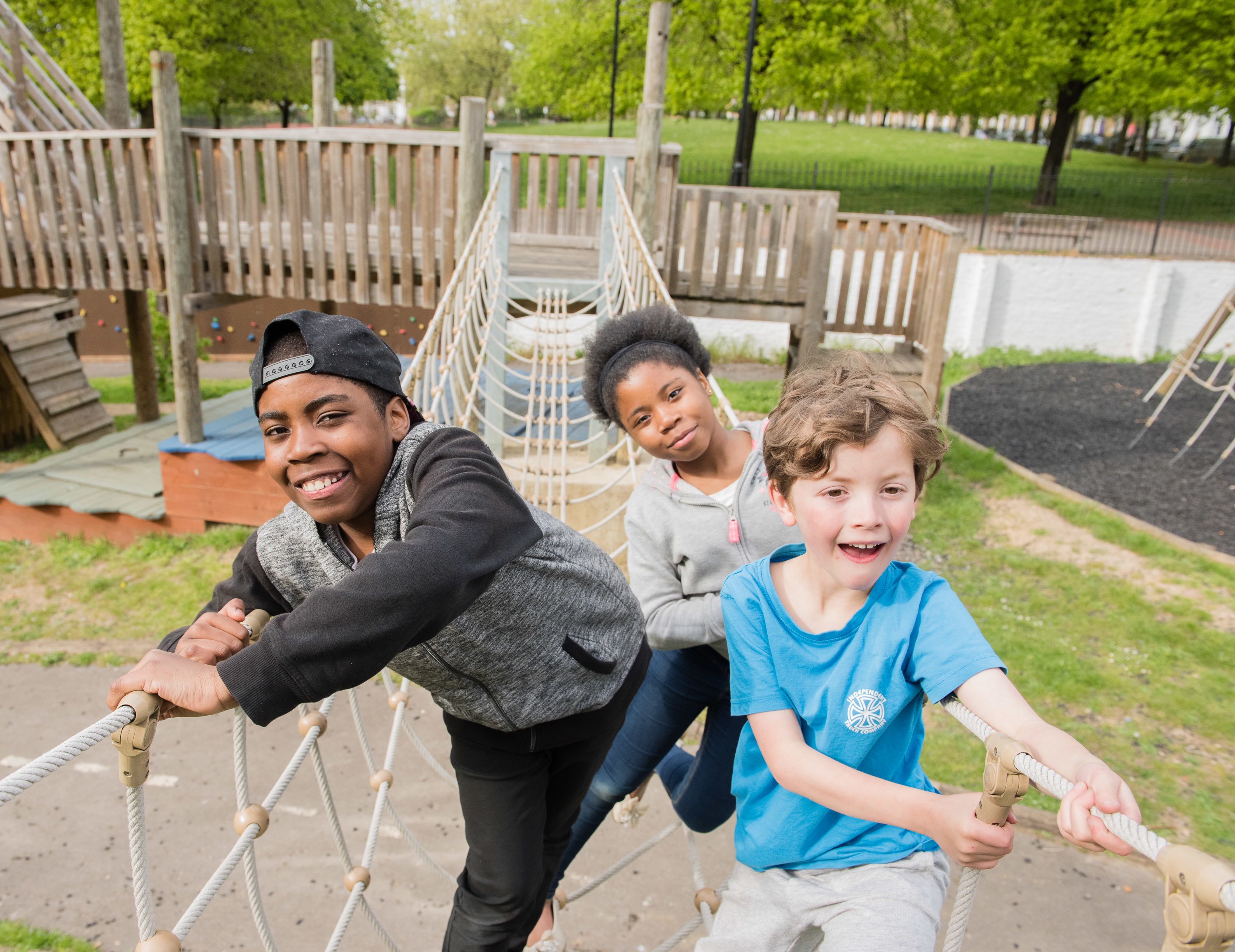 Burn some energy at Barnard Park Adventure Playground