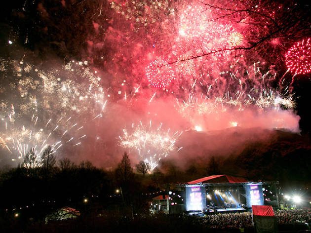 Edinburgh's Hogmanay 2013 - Concert in the Gardens - Fireworks and Stage