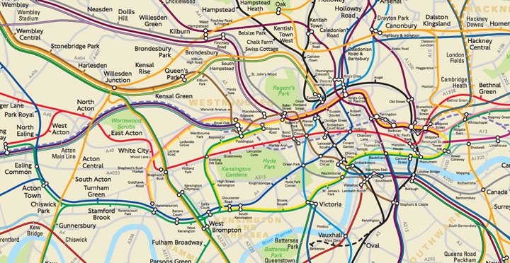 Subway Map Pdf Chicago.Tfl Has Secretly Made A Geographically Accurate Tube Map