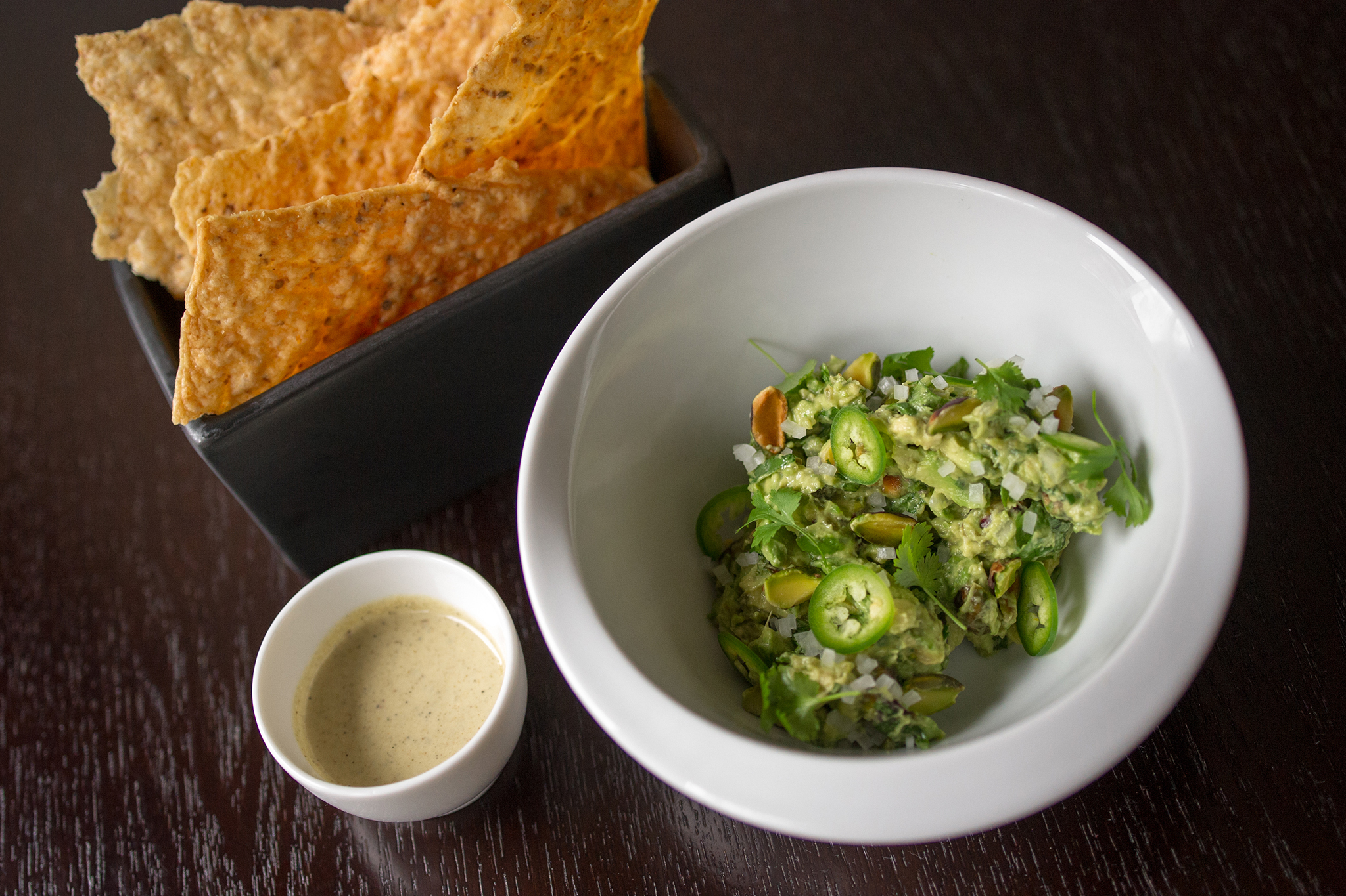 Guacamole with pistachios at Empellon Cocina