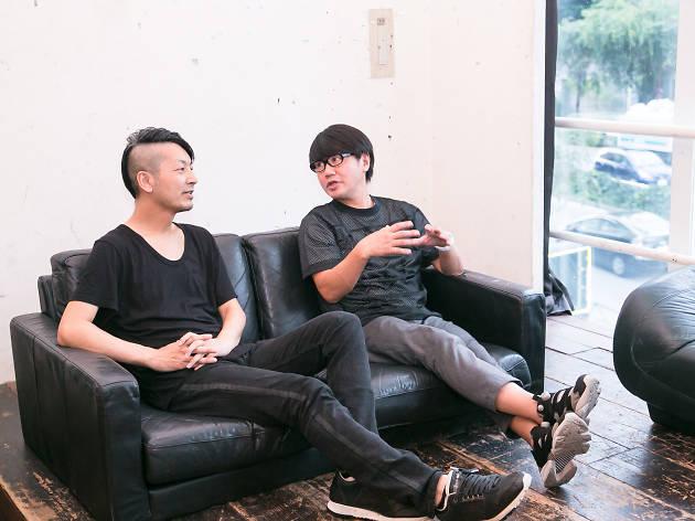 Tomo Hirata(左)、鹿野 淳(右)