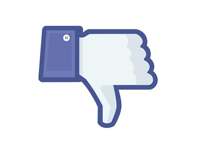 no m'agrada de Facebook