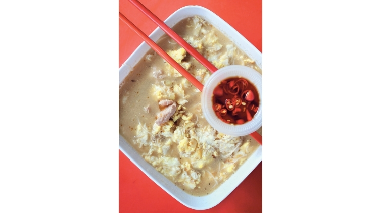 Ginger and wine mee sua