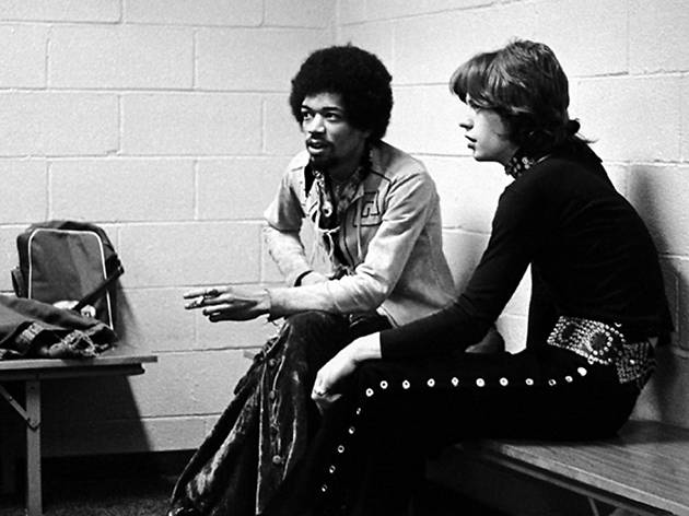 Jimi Hendrix and Mick Jagger
