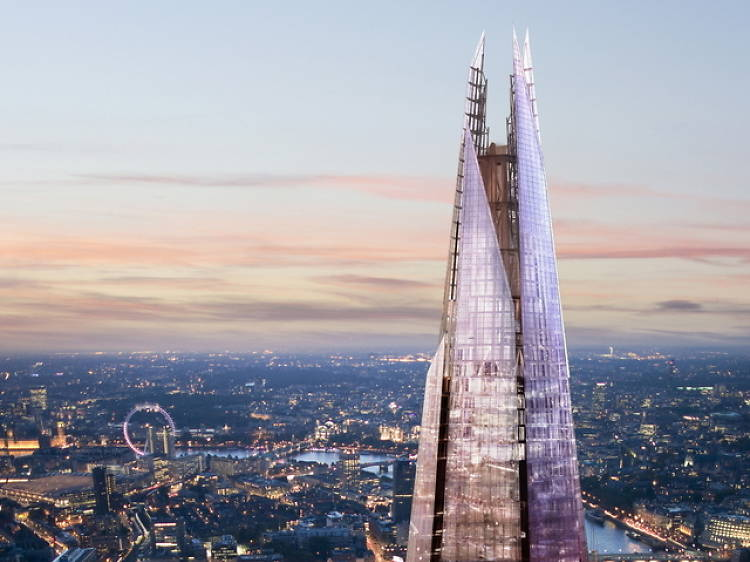 Admire the views from The Shard