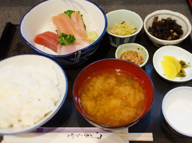 福田屋『お刺身盛り合せ定食』(1,130円)