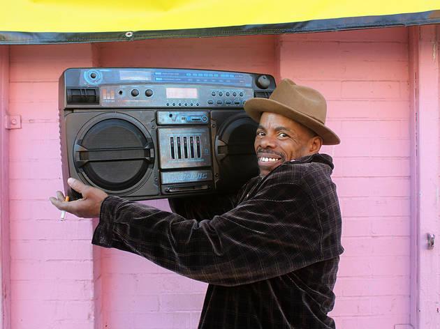 """""""Radio Man"""", Harlem, 2015"""