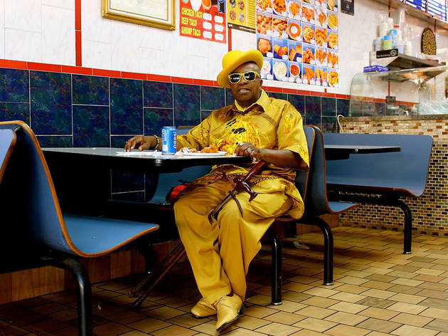 """Lewis Getting His Fried Chicken Fix"", Bronx, 2015"