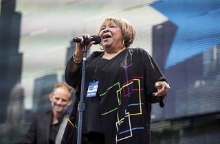 Mavis Staples performed at the FirstMerit Bank Pavilion at Northerly Island during Farm Aid 30, September 19, 2015.