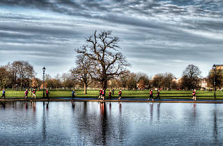 Runners on Clapham Common.