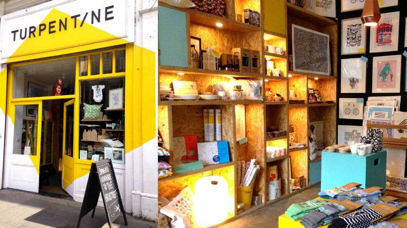 The Turpentine, arts shop, Brixton