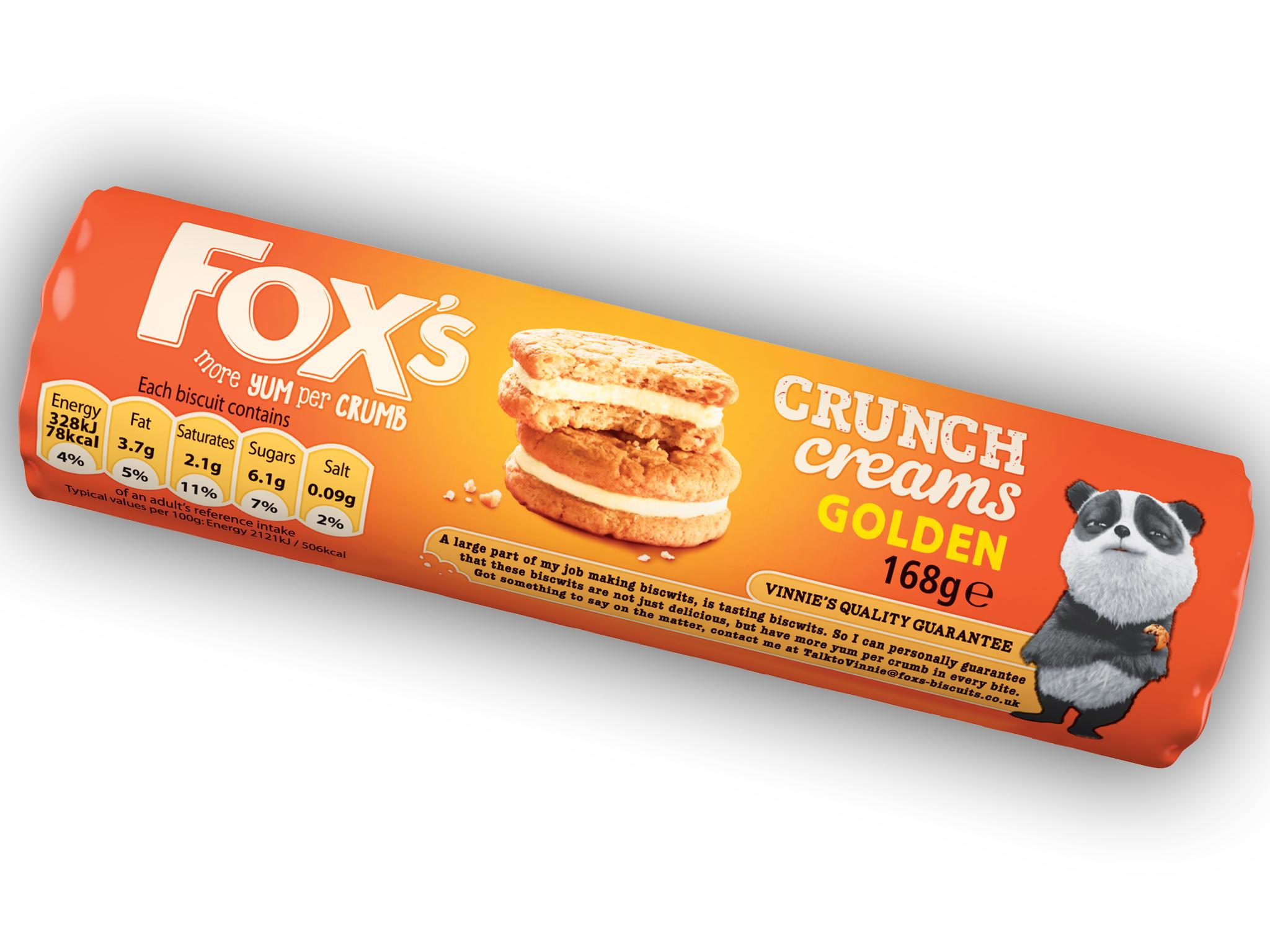 best biscuits, Fox's crunch creams