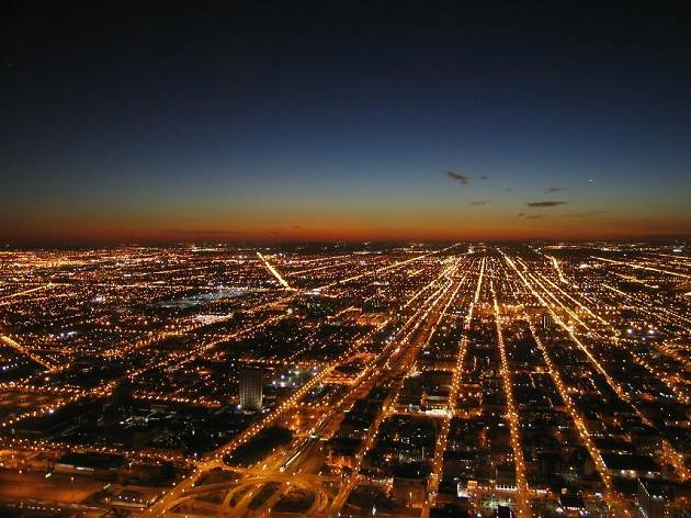 Westward view from the Willis Tower