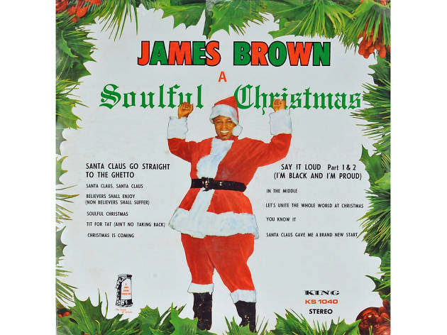 James Brown – 'Santa Claus Go Straight to the Ghetto' cover art
