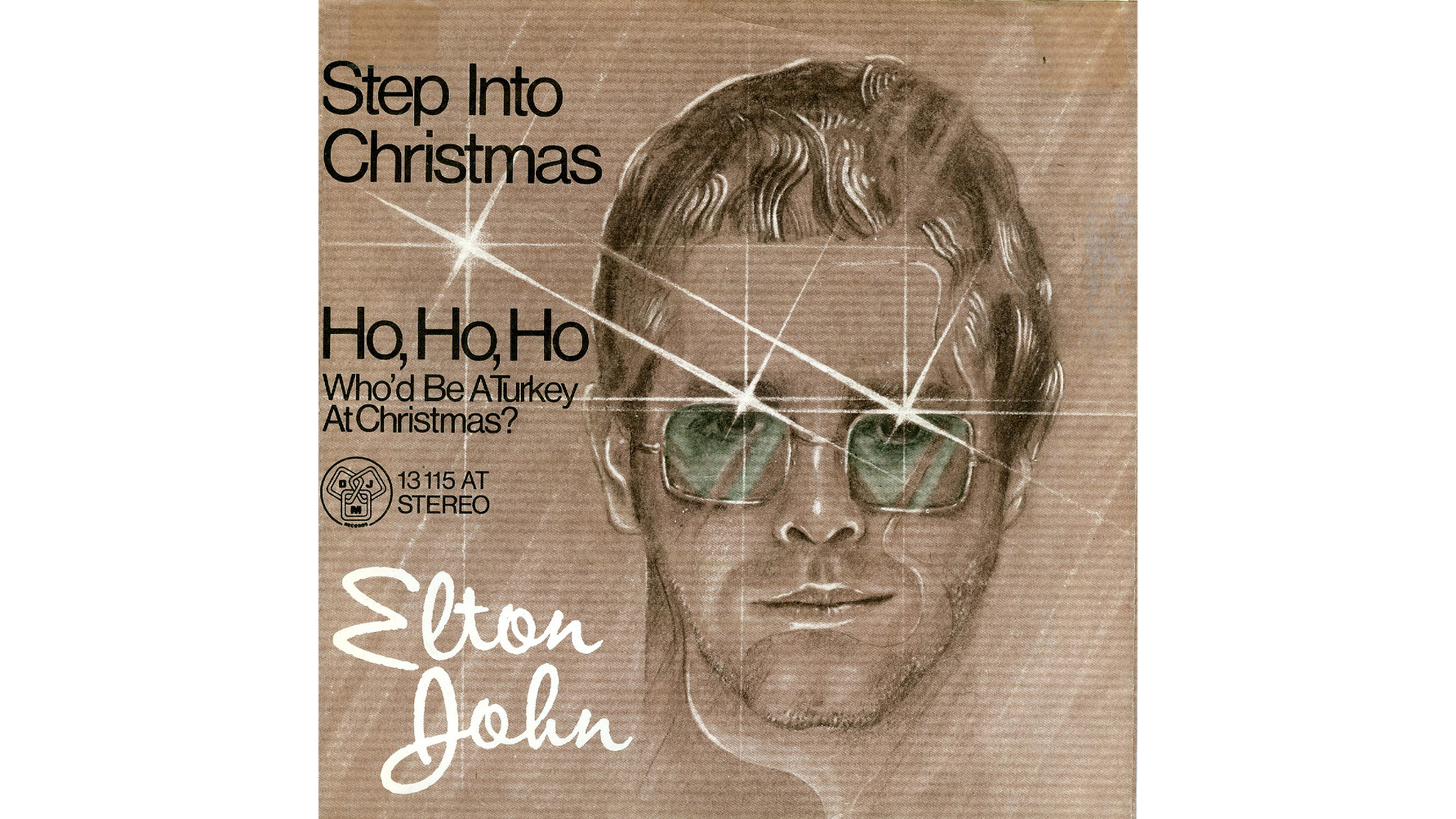 Elton John – 'Step Into Christmas' cover art
