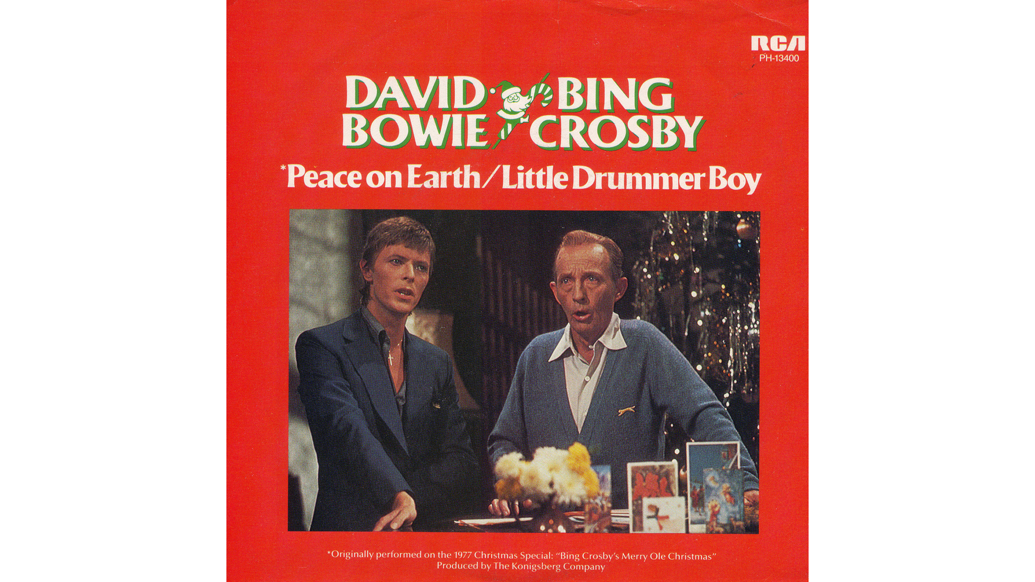 Bing Crosby and David Bowie – 'The Little Drummer Boy/Peace on Earth' artwork