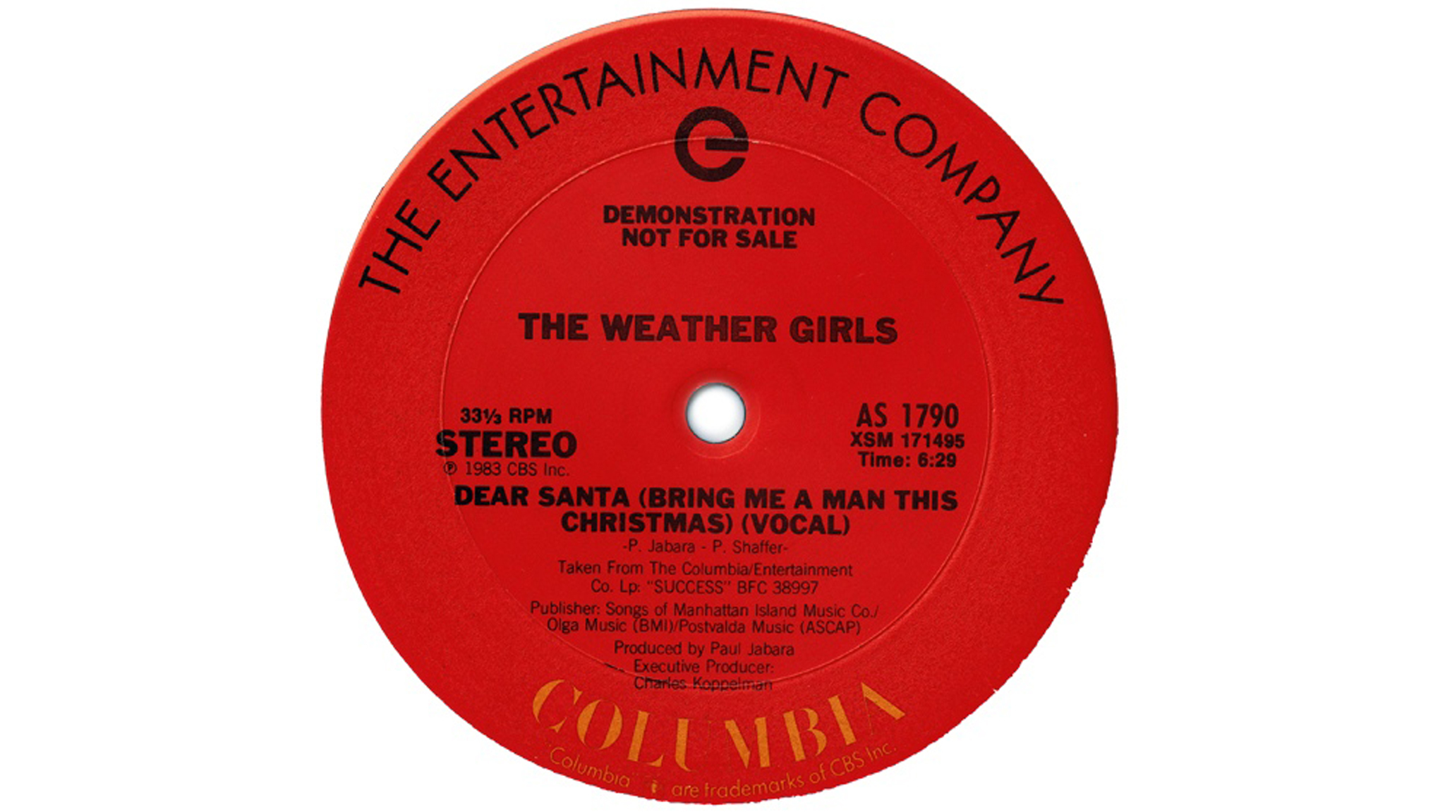 Weather Girls – 'Dear Santa (Bring Me a Man This Christmas)' cover art