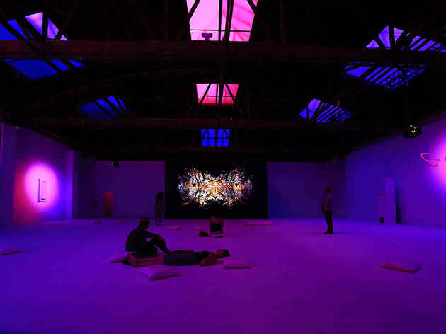 La Monte Young  Marian Zazeela  Jung Hee Choi, Dia 15 VI 13 545 West 22 Street Dream House, installation view, NYC, 2015.