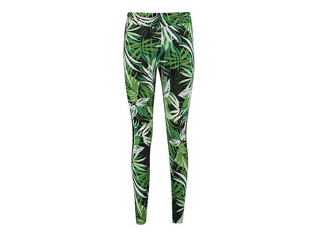 Boohoo Tia Fit jungle print sport mesh panel legging, $20, at boohoo.com