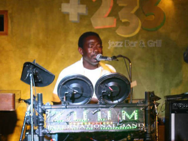 Check out the music +233 Jazz Bar & Grill