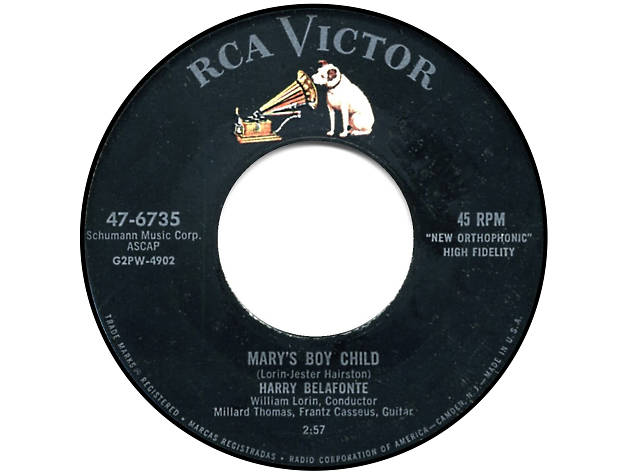 'Mary's Boy Child' –  Harry Belafonte