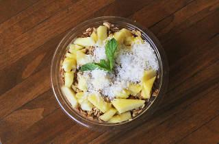 Açai bowl at Green Grotto Juice Bar