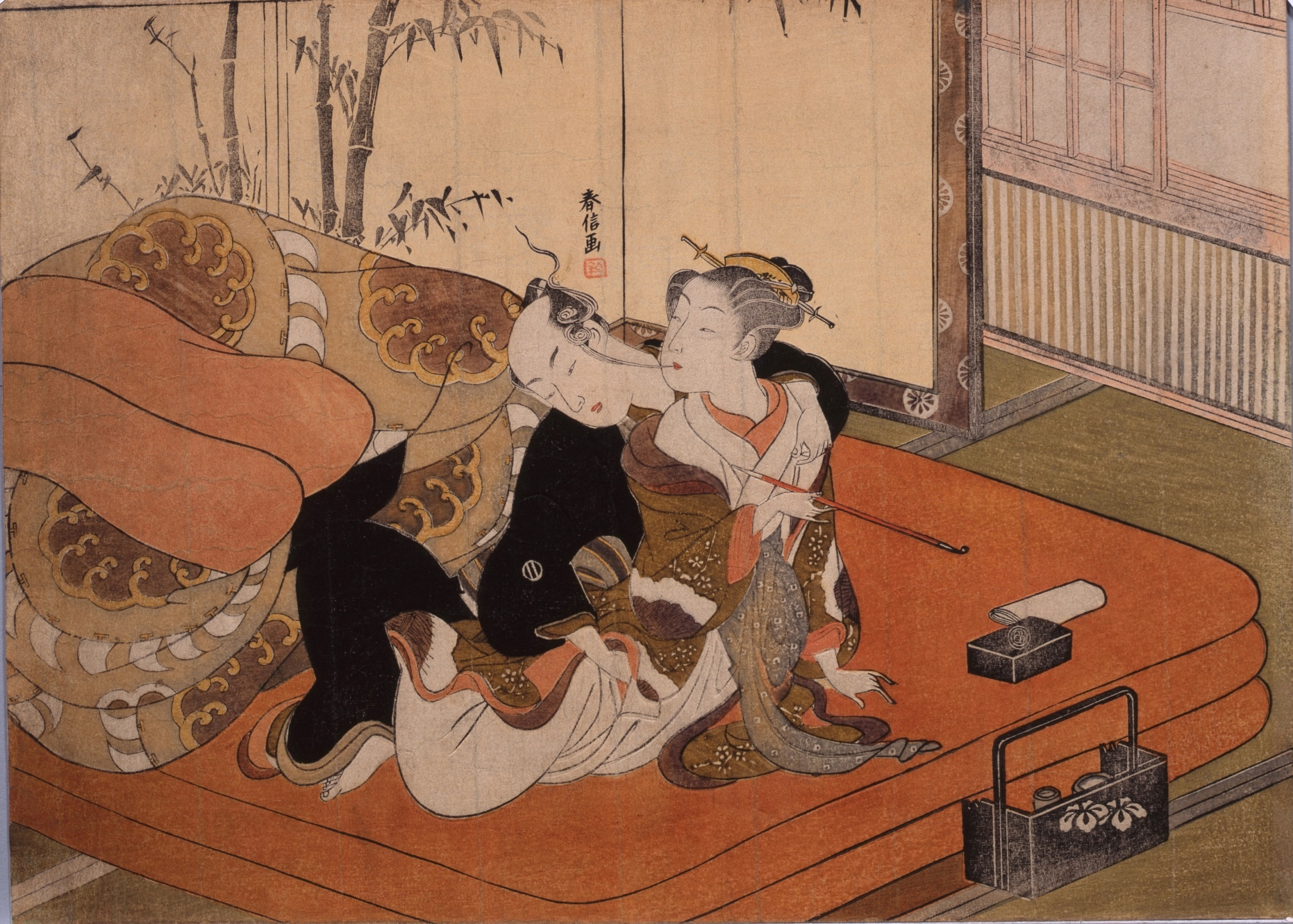 Japanese woodblock erotic