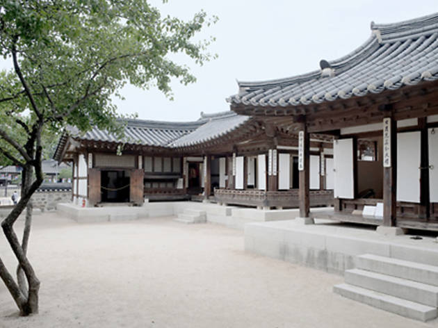 Check out a hanok village