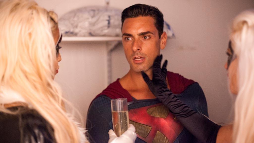 Ryan Driller as Superman at FSC After Dark: Capes & Panties