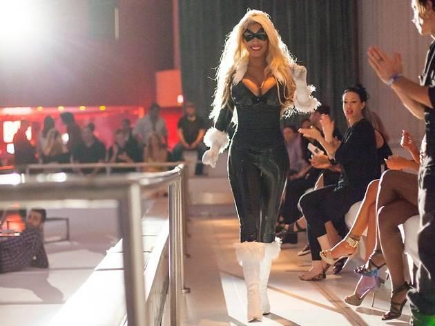 Bridgette B as Black Cat at FSC After Dark: Capes & Panties