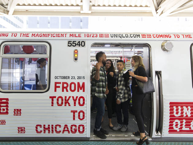Uniqlo teases fall opening with Chicago train takeover