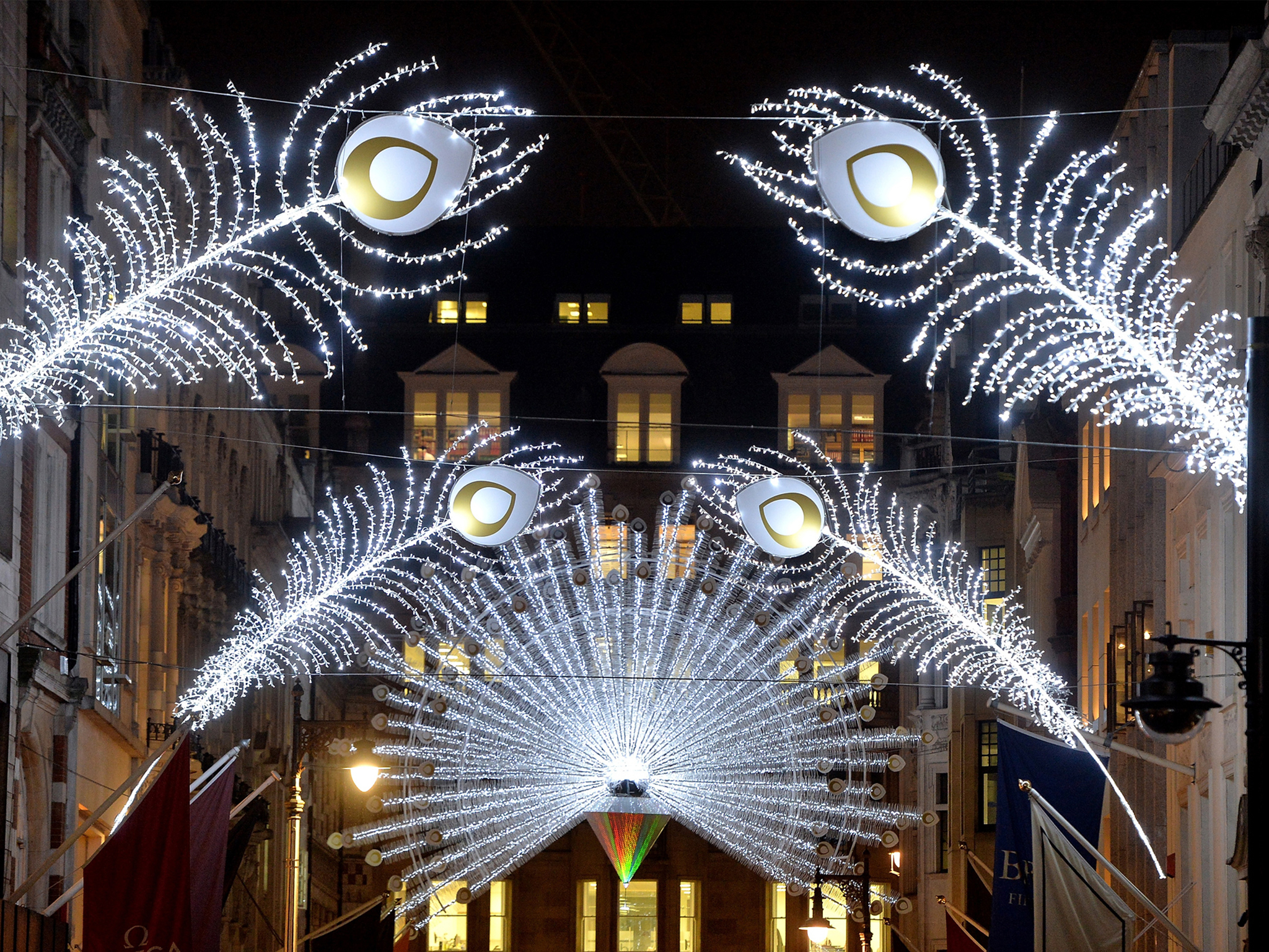See more Christmas lights in London