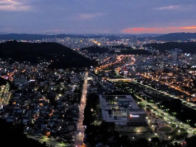 Look down on Jeonju from Chimyeongjasan Mountain
