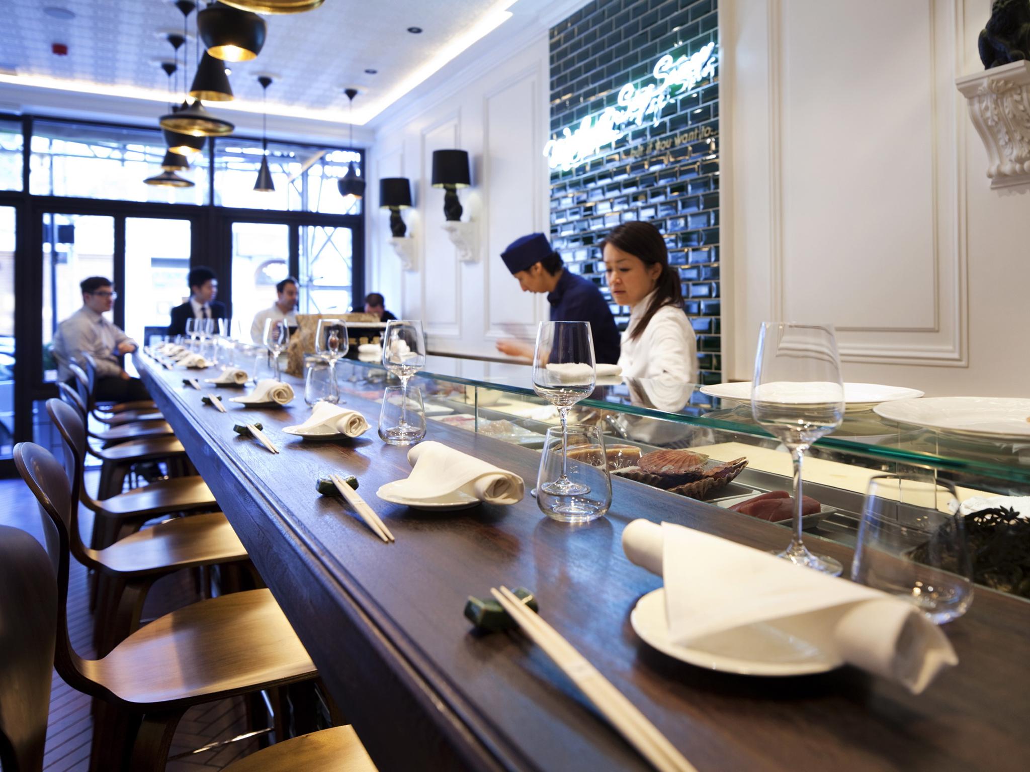 Counter dining in London, Yashin Sushi
