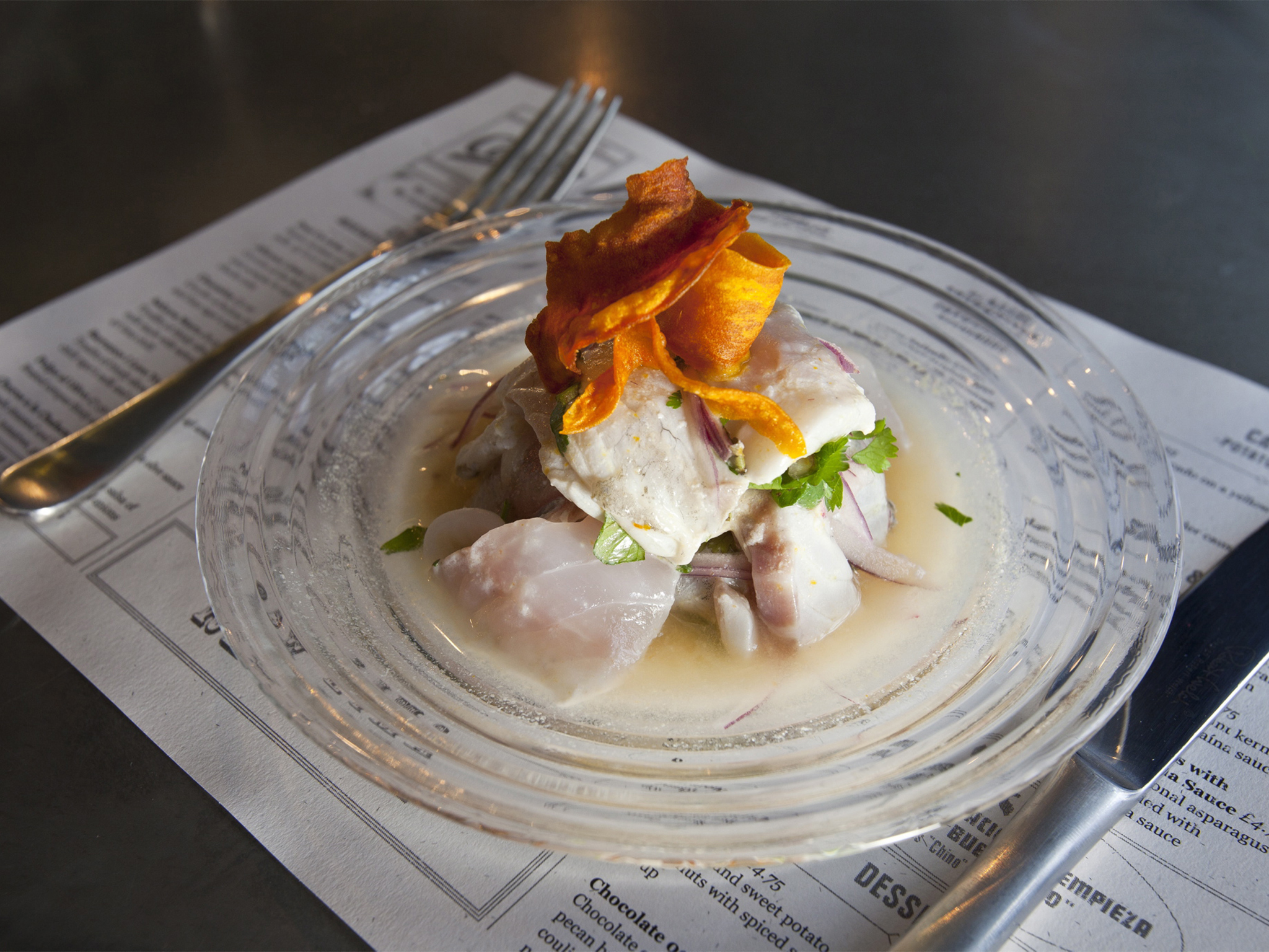 Counter dining in London, Ceviche Soho