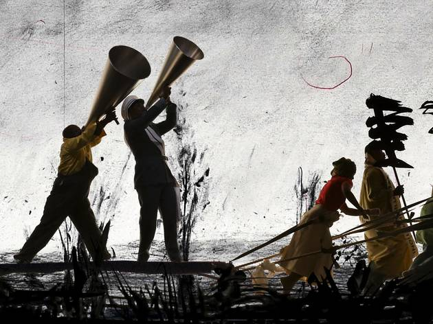 "William Kentridge's ""More Sweetly Play the Dance"""