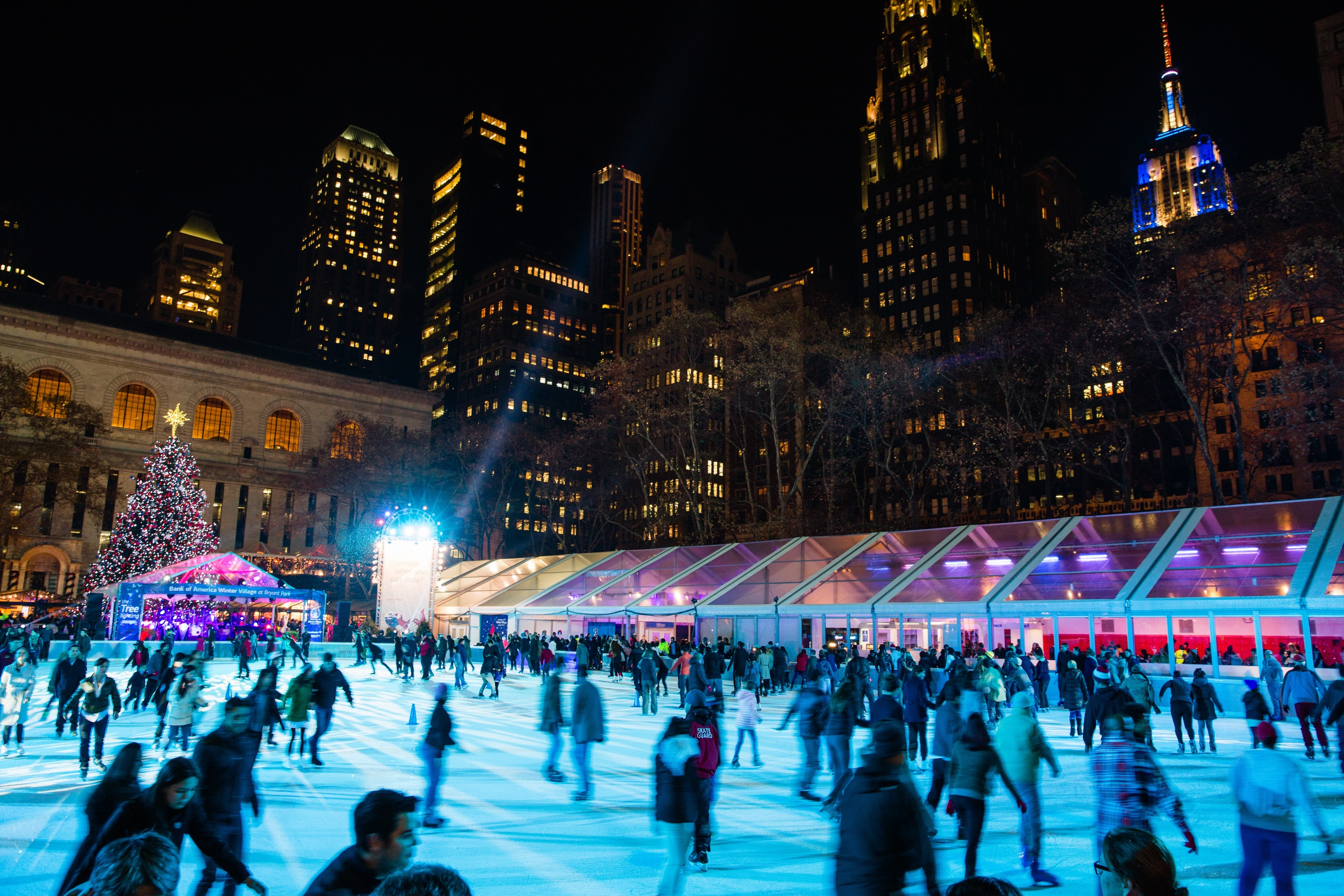 Best places to go ice skating in nyc including all weather for Best places to go in nyc at night