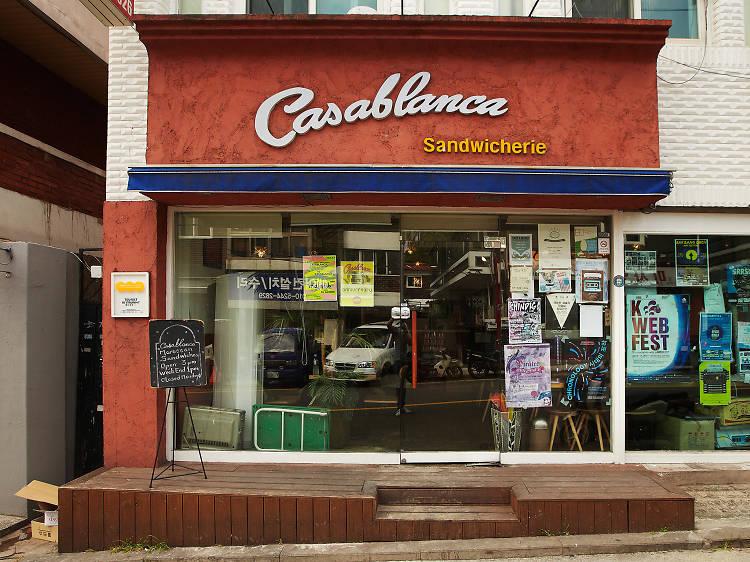 카사블랑카의 베지 샌드위치 6000원