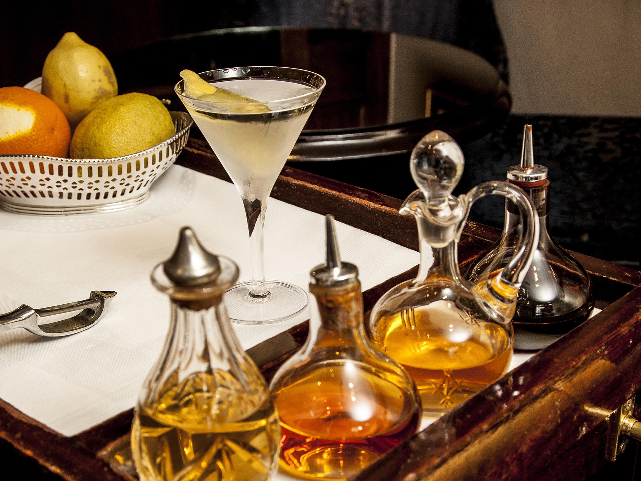 London Signature cocktails, duke's, gin martini