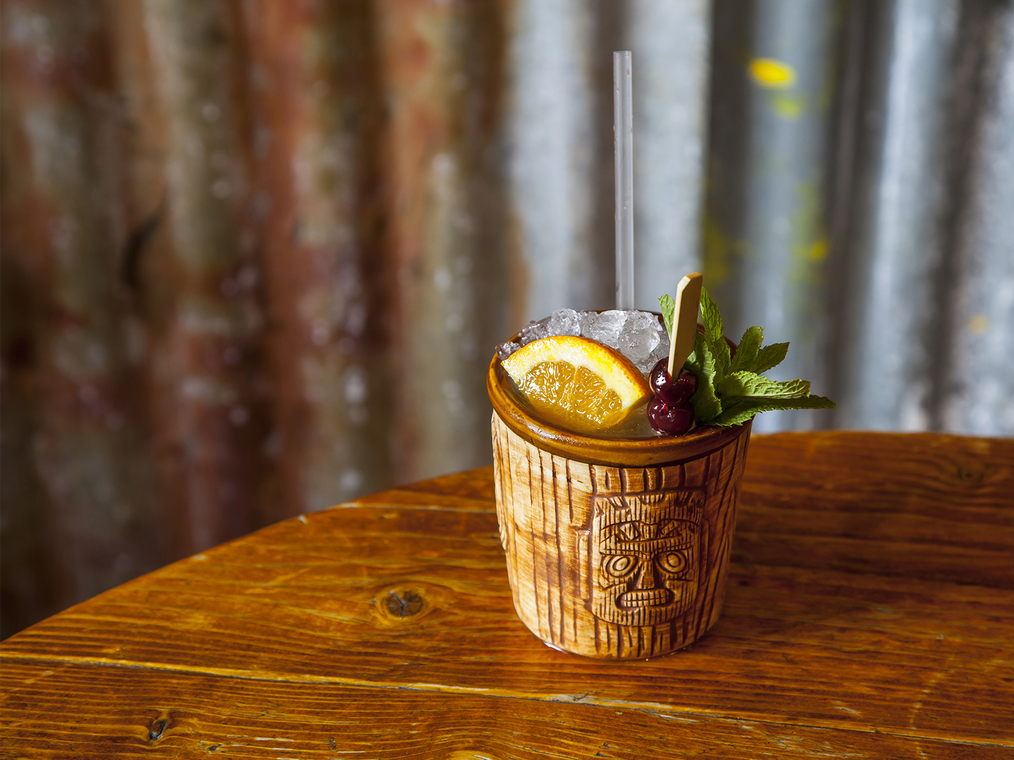 London's signature cocktails, rum kitchen, trader vic's mai tai