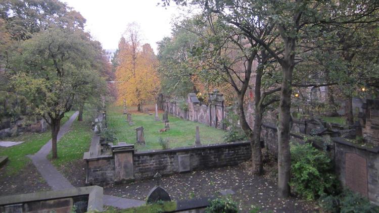 autumn graveyard cemetary
