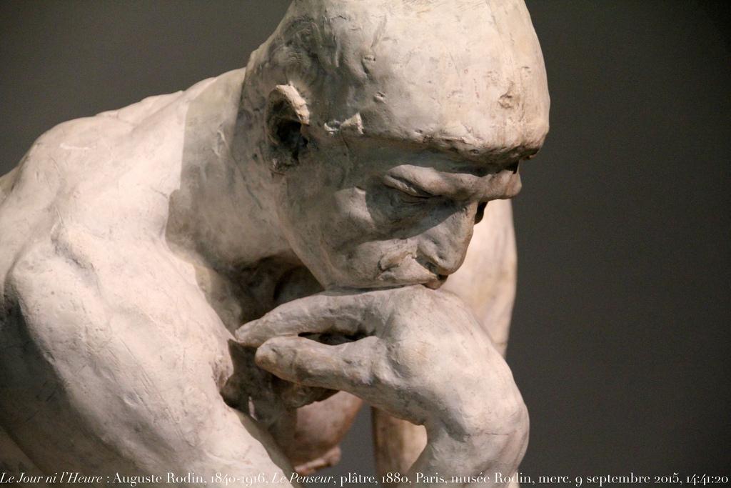 Le penseur de Rodin 35 questions que les Parisiens se sont tous posées