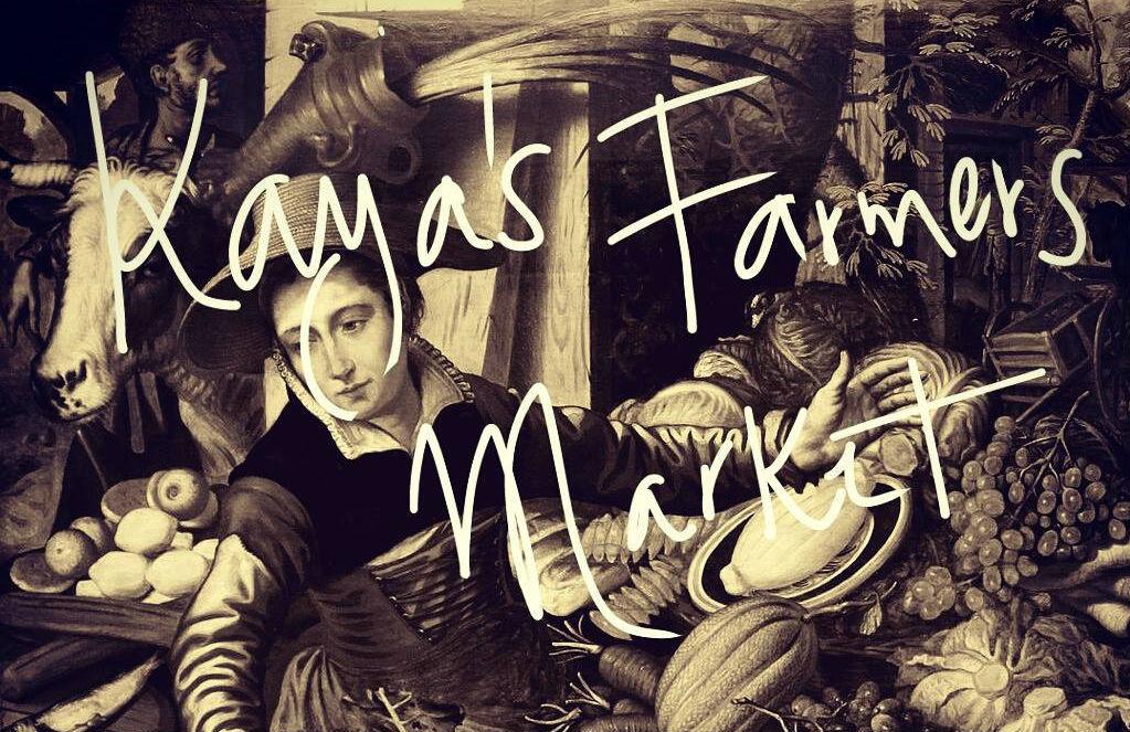 Farmers market at Kaya