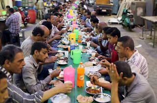 The world's longest charity dinner table