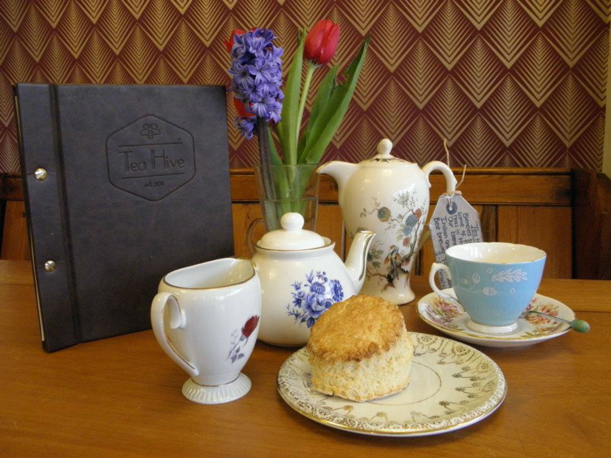 Cream tea at Tea Hive