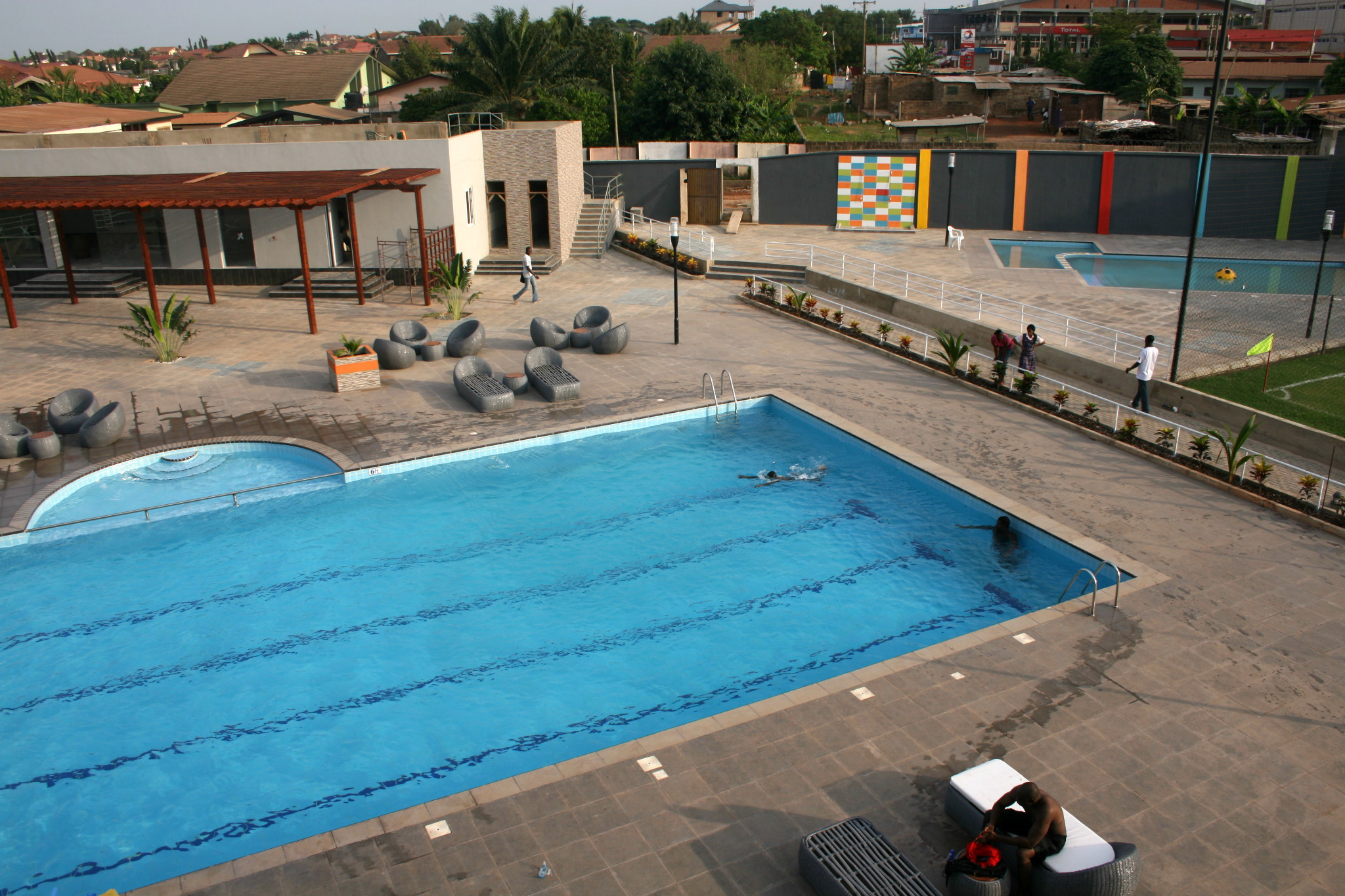 Footie and swimming at Lizzy Sports Complex