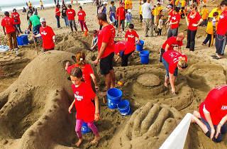 Leap's 32nd Annual Sandcastle Contest