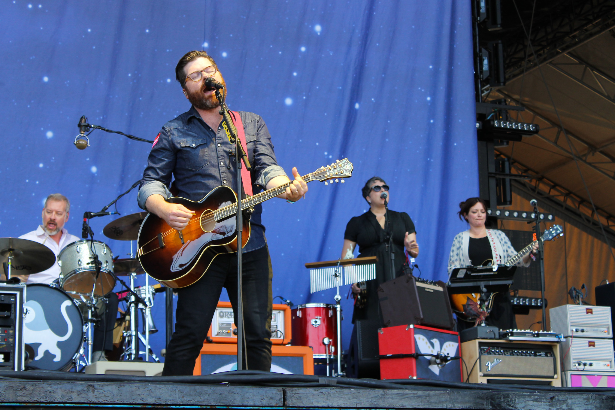 The Decemberists performed on day three of Austin City Limits Music Festival 2015.