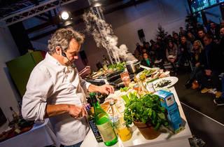 cooking demonstration, mark hix, taste of london